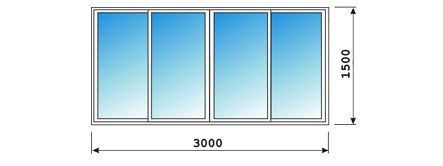 Алюминиевые окна на лоджии 6 м (8 ств.) алюминиевые раздвижн.